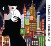fashion woman in style pop art. ...   Shutterstock . vector #553409593