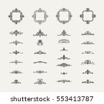 vintage decor elements and... | Shutterstock .eps vector #553413787