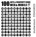 art icons | Shutterstock .eps vector #553418023