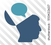 open mind opinion vector icon.... | Shutterstock .eps vector #553422637