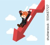 business fox slide down graphic | Shutterstock .eps vector #553437727