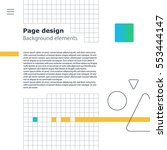 creative modern background ... | Shutterstock .eps vector #553444147