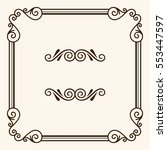 decorative frame | Shutterstock .eps vector #553447597