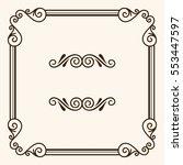 decorative frame | Shutterstock .eps vector #553447597