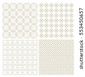 set of four delicate seamless... | Shutterstock .eps vector #553450657