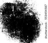 white paint. shabby black stain....   Shutterstock .eps vector #553454587