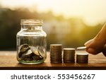 saving money and account growth ...   Shutterstock . vector #553456267