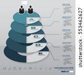 5 steps abstract chart. 5 steps ...   Shutterstock .eps vector #553462627