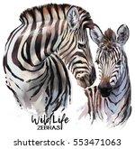 zebras painting | Shutterstock . vector #553471063