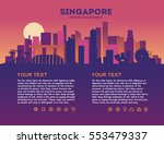 singapore skyline with...   Shutterstock .eps vector #553479337