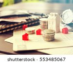 mortgage concept by money house ... | Shutterstock . vector #553485067