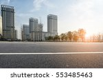 modern city road and building | Shutterstock . vector #553485463