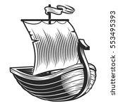 boat emblem   Shutterstock .eps vector #553495393