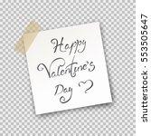 paper sheet on translucent... | Shutterstock .eps vector #553505647