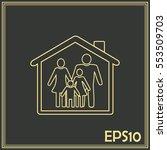 line icon  house family | Shutterstock .eps vector #553509703