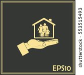 concept illustration of safety... | Shutterstock .eps vector #553515493