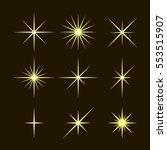 vector set of golden sparkle... | Shutterstock .eps vector #553515907