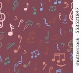 music notes background. | Shutterstock .eps vector #553521847