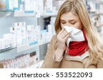 seasonal health issues. close... | Shutterstock . vector #553522093