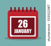 calendar with 26 january in a...