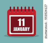 calendar with 11 january in a...