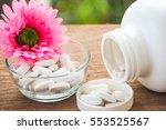 selective focus a calcium white ... | Shutterstock . vector #553525567