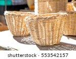 Wicker Basket In Market