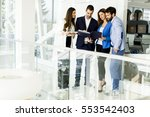 group of business people who... | Shutterstock . vector #553542403