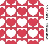 seamless pattern with heart.... | Shutterstock .eps vector #553543177