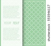 vector template for card or... | Shutterstock .eps vector #553546117