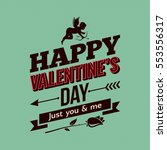 valentines day card. vintage... | Shutterstock .eps vector #553556317