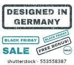 designed in germany rubber seal ... | Shutterstock .eps vector #553558387
