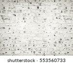 white brick wall. horizontal... | Shutterstock . vector #553560733