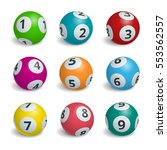 ball lottery numbers. lotto... | Shutterstock .eps vector #553562557