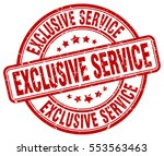 exclusive service. stamp. red...