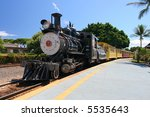 old steam train in maui  us | Shutterstock . vector #5535643