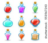 magic beverages potions poisons ... | Shutterstock .eps vector #553567243