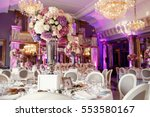table number 5 decorated with... | Shutterstock . vector #553580167