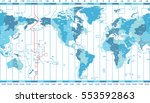 vector world map of local time... | Shutterstock .eps vector #553592863