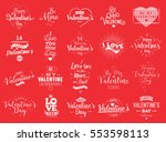 happy valentines day typography ... | Shutterstock .eps vector #553598113