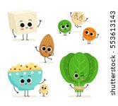 adorable collection of five... | Shutterstock .eps vector #553613143