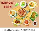seafood avocado salad icon...   Shutterstock .eps vector #553616143