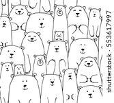 white bears family  seamless... | Shutterstock .eps vector #553617997