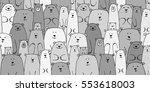 bears family  seamless pattern... | Shutterstock .eps vector #553618003