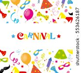 happy carnival card | Shutterstock .eps vector #553626187