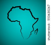 sketch african continent flat... | Shutterstock .eps vector #553630267