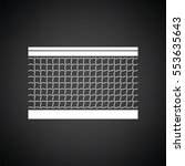 tennis net icon. black... | Shutterstock .eps vector #553635643