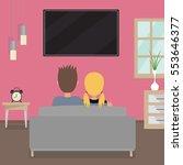 teenager couple  boy and girl ... | Shutterstock .eps vector #553646377