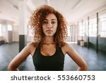 portrait of beautiful afro... | Shutterstock . vector #553660753