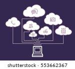cloud computing concept | Shutterstock .eps vector #553662367